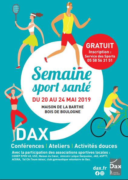 Semaine Sport Santé – Du 20 au 24 mai !